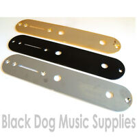 Quality Telecaster electric guitar control switch plate in chrome black or gold