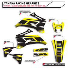 GRAPHICS HURRICANE YELLOW YAMAHA 2006 2007 2008 2009 YZF 250 / 450 BIKE DECALS