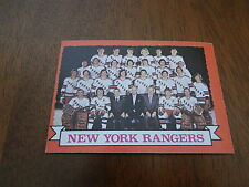 1973 New York Rangers Team Card 102