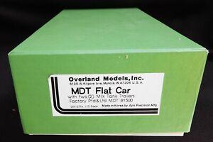 Overland Models MDT FLAT CAR #1500 W/ 2 MILK TANK TRAILERS F/P NIB O Scale