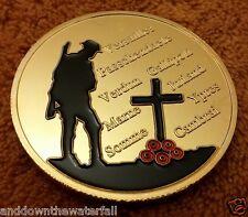 1914 - 1918 World War I Gold Coin Great Britain Union Jack Battle Fields Germany
