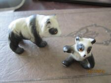 Pair of 2 Panda Bears wildlife Porcelain Beautiful Figurines animals Vintage