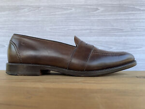 Allen Edmonds Westchester 1627 Brown Burnished Calf Penny Loafers Mens Size 9.5D
