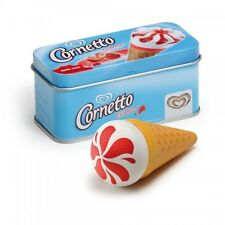 Wooden pretend role play food Erzi kitchen: Strawberry Cornetto Ice Cream in tin