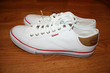 NEW Mens Levis STAN BUCK White Sneaker Canvas Shoes Size 9 US