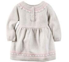 Carter's Girl's 24 Month Gray & Pink Fair Isle Sweater Dress