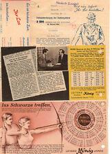 Konvolut Lotterie Reklame Spielscheine um 1953 Bestellkarten  ! (D8