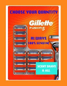 GILLETTE FUSION FUSION5 SHAVING RAZOR BLADES 100% GENUINE NEW FAST FREE POSTAGE
