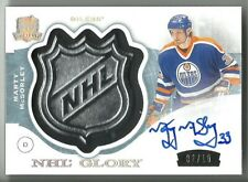 2014-15 The Cup NHL GLORY MARTY McSORLEY OILERS SHIELD AUTO PATCH SSP /10
