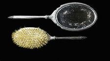 Vintage S&B Saart Brothers Sterling Silver Vanity Mirror & Brush Dresser Set