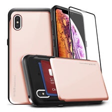 iPhone 11 Pro /XR / XS MAX / XS Shock protective Bumper case 2-card slide holder