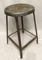 VTG Metal Shop Utility Rustic Industrial Factory Steampunk Retro Stool Chair 22""