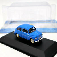 IXO Altaya Fiat 600D 1962 Blue 1/43 Diecast Models Limited Edition Collection