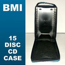 BMI 15 Disc CD Case Storage Carrying Music Black 90s Audio Collect LA Hip Hop NY