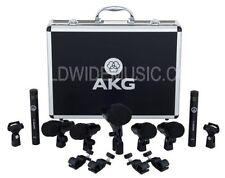 AKG batterie session 1 ensemble complet 7 microphone (1 x P2, 4 x p4, 2 x p17 CMI)