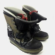 Sorel Snowboarding Boots Brown leather Scott Downey Italy Sz 9 GUC