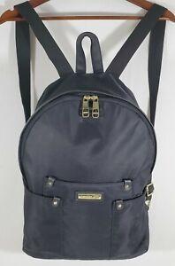 "Steve Madden MADDEN GIRLS Backpack Purse Black Gold Tone Trim 12""x15""x4"" Pockets"