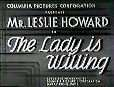 THE LADY IS WILLING - Leslie Howard, Cedric Hardwicke REGION FREE DVD