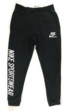 Nike Hombre Archive Pantalón de Chándal L Blanco y Negro Casual Gimnasio