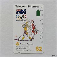 Telecom Barcelona Olympics 1992 Women's Hockey N91041-1-2 150 $2 Phonecard (PH7)