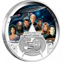 STAR TREK THE CREW 2oz SILVER PROOF COIN - 30th ANNIVERSARY THE NEXT GENERATION