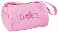 New w/ Flaw Girl's Pink Quilted Star Dance Roll Duffle Bag DansBagz by Danshuz