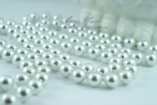 1.5 Meter 12mm White Pearl Garland String 4 Wedding/Bridal/Necklace/Decorations