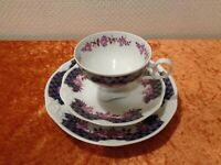 3 PC Pmp Porcelain Collection Cup Collector's Place Setting - Rose - Real Cobalt