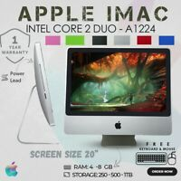 "CHEAP APPLE IMAC A1224 CORE 2 DUO 20"" WIFI WEBCAM FREE KEYBOARD & MOUSE"