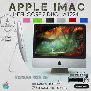 "CHEAP APPLE IMAC A1224 CORE 2 DUO 20"" WIFI WEBCAM FREE KEYBOARD & MOUSE"