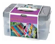 PEBEO P.BO DECO WORKBOX ACRYLIC PAINTS SET DECORATE HOBBY CRAFT STORAGE BOX ART