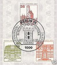 Berlín 1982: castillos y cerraduras nº 673 + 674 + 677 con etiquetas primero sello! 1709