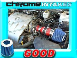 RED BLUE 2004 2005 CADILLAC DEVILLE ALL MODELS WITH 4.6 4.6L V8 AIR INTAKE KIT