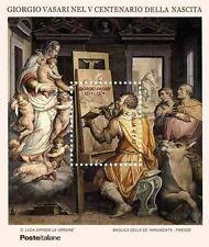 2011 Italia Repubblica foglietto giorgio vasari MNH**
