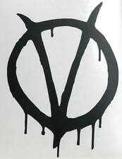 Adesivo V PER VENDETTA for Guy Fawkes sticker decal Anonymous Mask moore lloyd