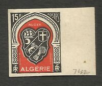 FRANCE ALGERIA Yv# 271 imperforated MNH shield