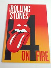 The Rolling Stones 14 On Fire 2014 Tour Program NEW-MINT