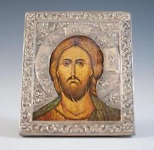 Antique Russian Silver Portrait Icon.