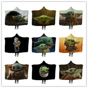 Yoda Baby Hooded Blanket Wearable Blanket Xmas Gift 150x130cm