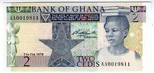 **   GHANA     2  cedis   1979   p-18a    UNC   **