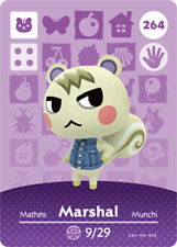 Amiibo Animal Crossing: New Horizons Marshal #264 NFC card (NO ARTWORK)