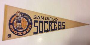 "VTG NASL San Diego Sockers 30"" Felt Pennant 1980s North American Soccer League"
