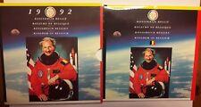 FDC 1992  Belgique Dirk Frimout Set Stempelgans Brilliant NASA Coins RARE