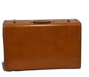 """Vintage 1950s brown 21"""" Samsonite Shwayder Bros. hard side suitcase"""