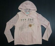 Onque Casual Womens Size M Pink Zip Up Hoodie Great Condition