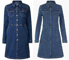 Ladies Denim Mini Holly Willoughby Shirt Dress Added Stretch £49.50 Ex M&S