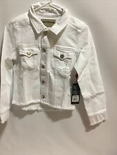 Authentic True Religion Women's Dari Boxy Shirt Jacket In Optic White Size S
