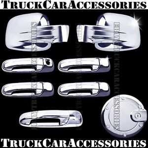For JEEP Liberty 2002-2006 2007 Chrome Covers Set Full Mirror+Doors+Gas+Tailgate