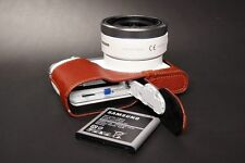 Genuine real Leather Half Camera Case bag cover for Samsung NX3000 Bottom Open