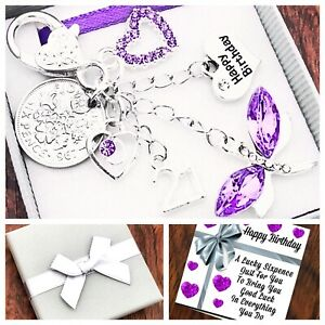 16th, 18th, 21st BIRTHDAY Gift, LILAC DRAGONFLY, SIXPENCE Keying, 40th 50th 60th